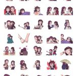 Telegram Stickers Young and Couple Romantics Edition