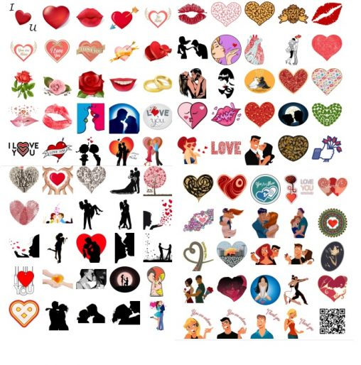 Full Pack Design Love romantics stickers