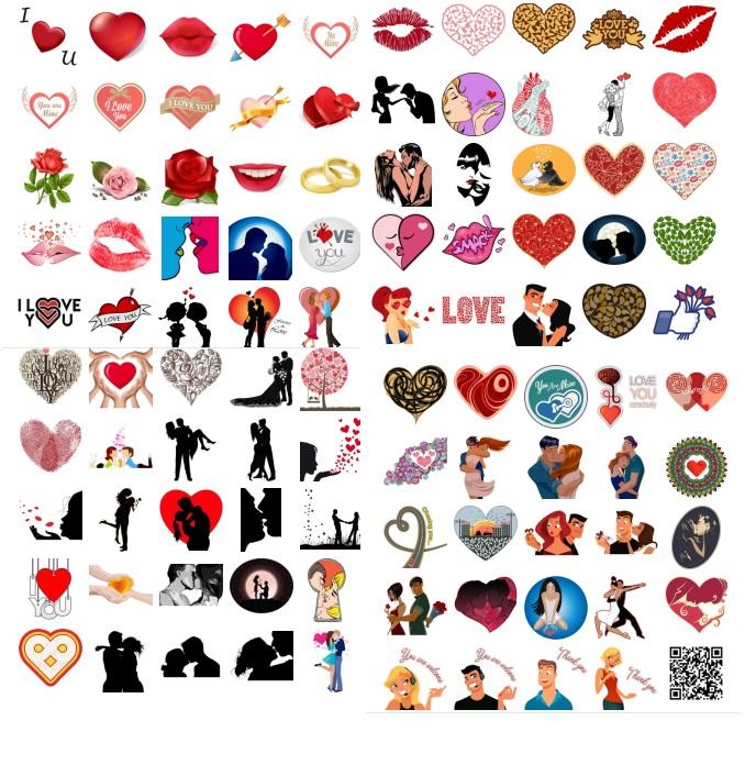 Full Pack Design Love romantics stickers