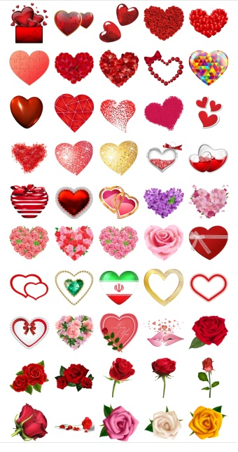 Heart and Flover Stickers