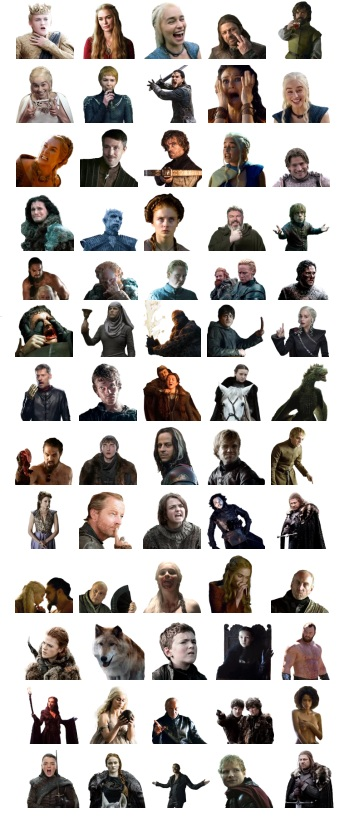 Game of Thrones Telegram Stickers Full Pack