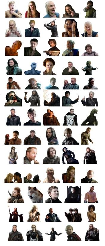 Game of Thrones Telegram Stickers Full Pack