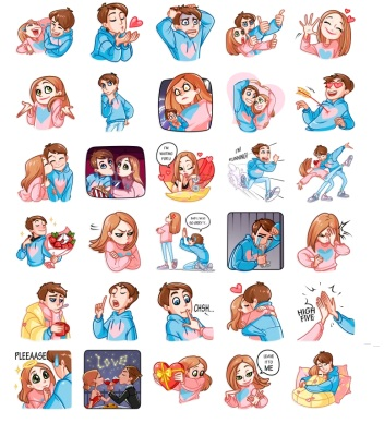 Love Story Telegram Stickers Set Full Romantics