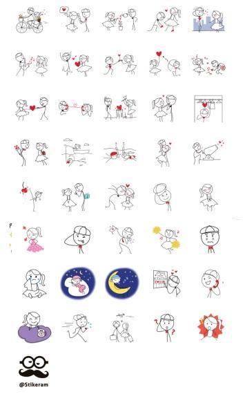 Pepe and Lulu Love Journey Telegram Stickers Set