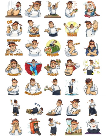 Best Design Telegram Stickers Susi Chef Full Pack Collection