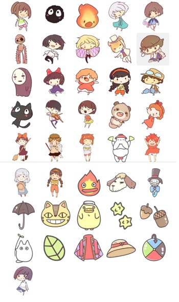 Funny Collection Studio Gibli Telegram Stickers by GhibliMiyasaky