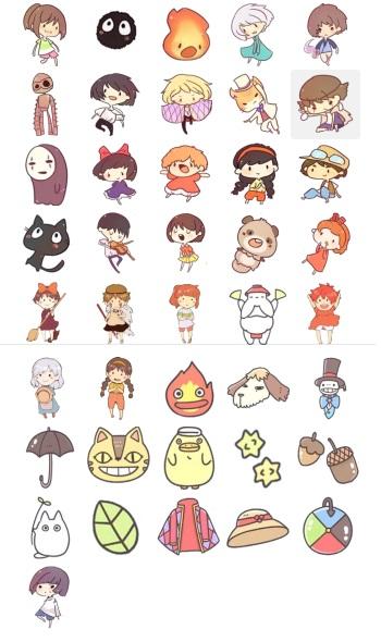 Funny Collection Studio Gibli Telegram Stickers by GhibliMiyasaky