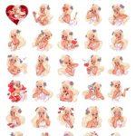 Girl In Love Romantics Stickers Love Full Pack Telegram