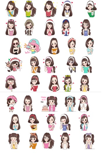 Girl Love Collection Beauty Queen Telegram Stickers