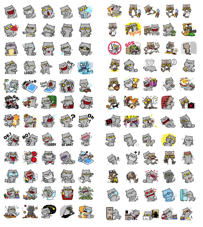 Cats Meow Zhua Complete Full Pack Teleram Stickers