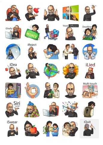 Design Steve Jobs Stickers on Telegram Mesenger