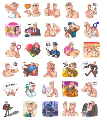 GO Baldly Boy Funny Stickers Telegram